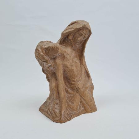 Maria mit Jesus - Holzfigur geschnitzt